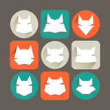 Cat icons. Icons set: stylized cats. Minimalism Stock Image