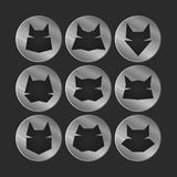 Cat icons Stock Images