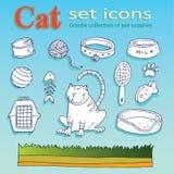 Cat Icons Imagen de archivo libre de regalías