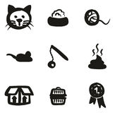 Cat Icons Freehand Fill Foto de archivo