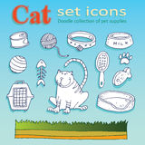 Cat icons Royalty Free Stock Image