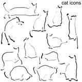 Cat icons set Royalty Free Stock Photos