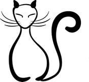 Cat illustration. Hand drawn sitting cat illustration Stock Images