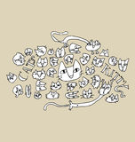 Cat Illustration Fotografia de Stock Royalty Free