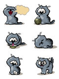 Cat 2. Illustration of funny cat in different moods and poses Stock Photography