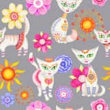 Cat illustration Stock Photos