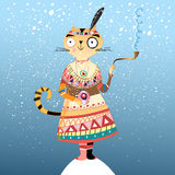Cat Indian winter Stock Photography