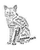 Cat from the inscriptions. vector Royalty Free Stock Image