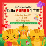 Cat Invitation vector illustratie