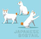 Cat Japanese Bobtail Cartoon Vector Illustration Royalty Free Stock Photos