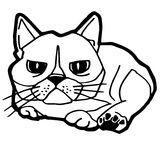 Cat and kitten Coloring Page  vector Royalty Free Stock Photography