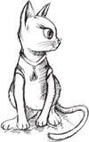 Cat Kitten Sketch Doodle Stock Images