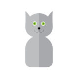 Cat label in flat style Royalty Free Stock Image