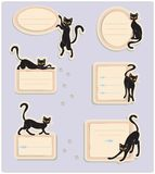 6 Cat Labels Images stock