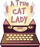 Cat Lady verdadeira Imagens de Stock Royalty Free