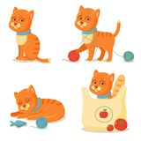 Cat life. Cute red cat adventures Royalty Free Stock Photography