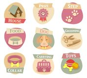 Cat life flat icons Royalty Free Stock Images