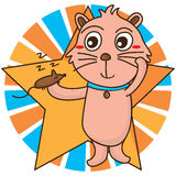 Cat like mouse cute Royalty Free Stock Images