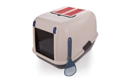 Cat litter box isolated royalty free stock photos