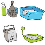 Cat Litter Objects Stock Images