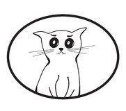 Cat. Little kitten that can serve as a logo Stock Images