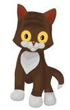 Cat little kitten character cartoon style  illustration Stock Images