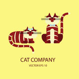 Cat logo template Royalty Free Stock Images
