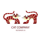Cat logo template Royalty Free Stock Image