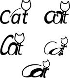 cat logotype s 图库摄影