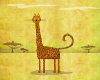 Cat Looking Like Giraffe ilustración del vector