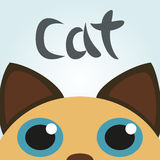 Cat Looking Up Vector Illustration Stock Photography