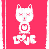 Cat in love Stock Photo