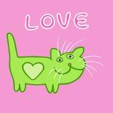 Cat Love Emoticon Vector Illustration Stock Photos