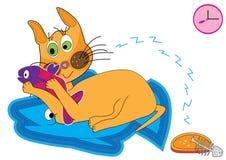 Cat Love Fish_eps Royalty Free Stock Photos