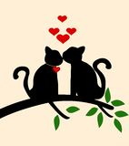 Cat love story. Vector illustration of Cat love story Royalty Free Stock Photos