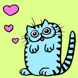 Cat in Love Vector Illustration  Stock Photography