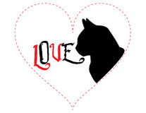 Cat Love - Vector Illustration Royalty Free Stock Photo