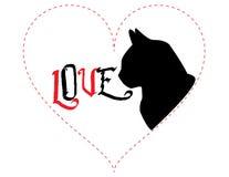 Cat Love - vektorillustration Royaltyfri Foto