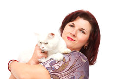 Cat lover Stock Photo