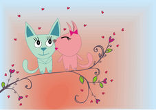 Cat lovers Stock Images