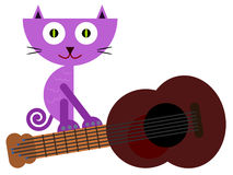 Cat loves music Royalty Free Stock Image