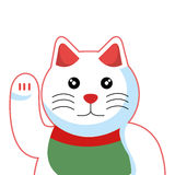 Cat luck japanese culture Stock Images