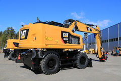 Cat M318 Wheel Excavator Stock Photo