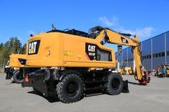 Cat M318 Wheel Excavator stock photo