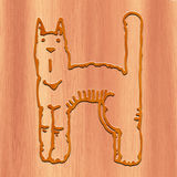 Cat Made with wood Stock Images