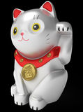 Cat Maneki Neko white. Illustration 3d model. Royalty Free Stock Photo