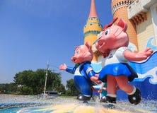Cat Mascot do parque de diversões de Sião fotografia de stock royalty free