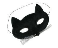 Cat Mask. Isolated with a little shadow left around eyes stock image