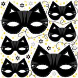 Cat mask animal party disguise carnival pattern Stock Photos
