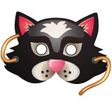 Cat mask. Carnival and masquerade accessories. Cat mask with strings drawn in cartoon style. Carnival and masquerade accessories for children and adults. Vector Stock Images